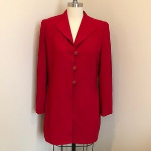 Christian Dior Red Long Suit Blazer Jacket